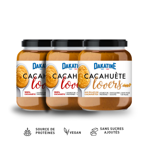 Dakatine Cacahuète Lovers 100% et Eclats