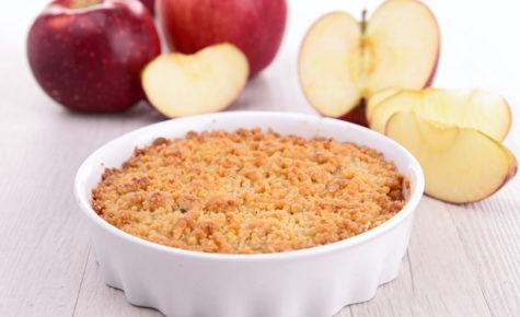 Crumble de pomme au beurre de cacahuète