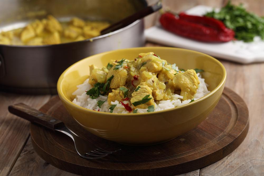 Curry de dinde au beurre de cacahuète