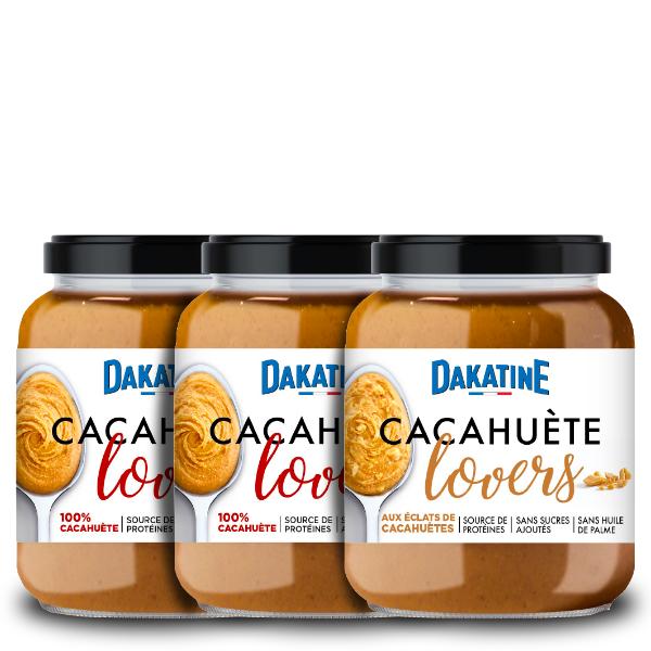 Assortiment découverte Dakatine Cacahuète Lovers 100% et Eclats